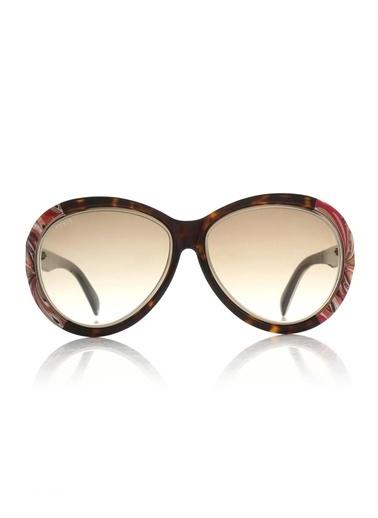 Emilio Pucci  Ep 0018 56F Kadın Güneş Gözlüğü Kahve